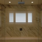 Plantation Shutters in the shower