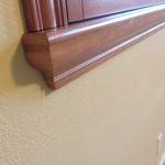 The designer sill cap can be used to cover an existing ugly sill