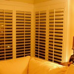 plantation shutters in corner window